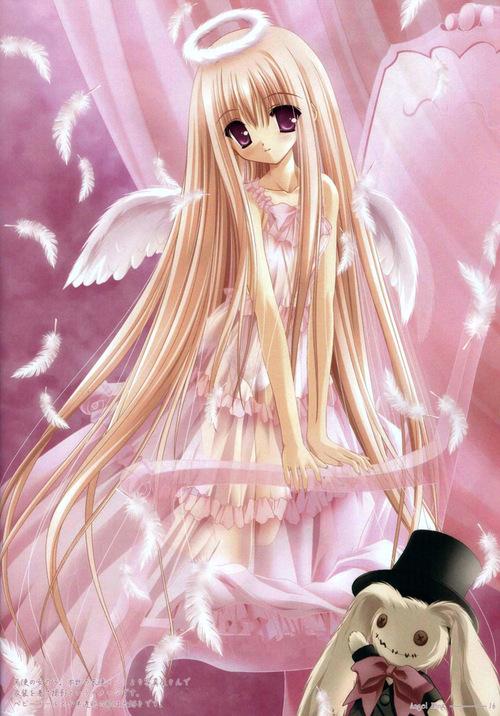 fille manga ange