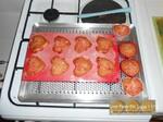 Cœurs de muffins aux éclats de pralines roses