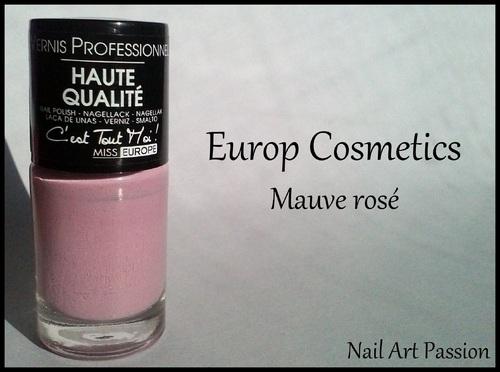 Europ Cosmetics - Mauve rosé !