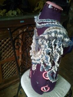 Laine Nuageuse Paysagée en Free Form Crochet n°2