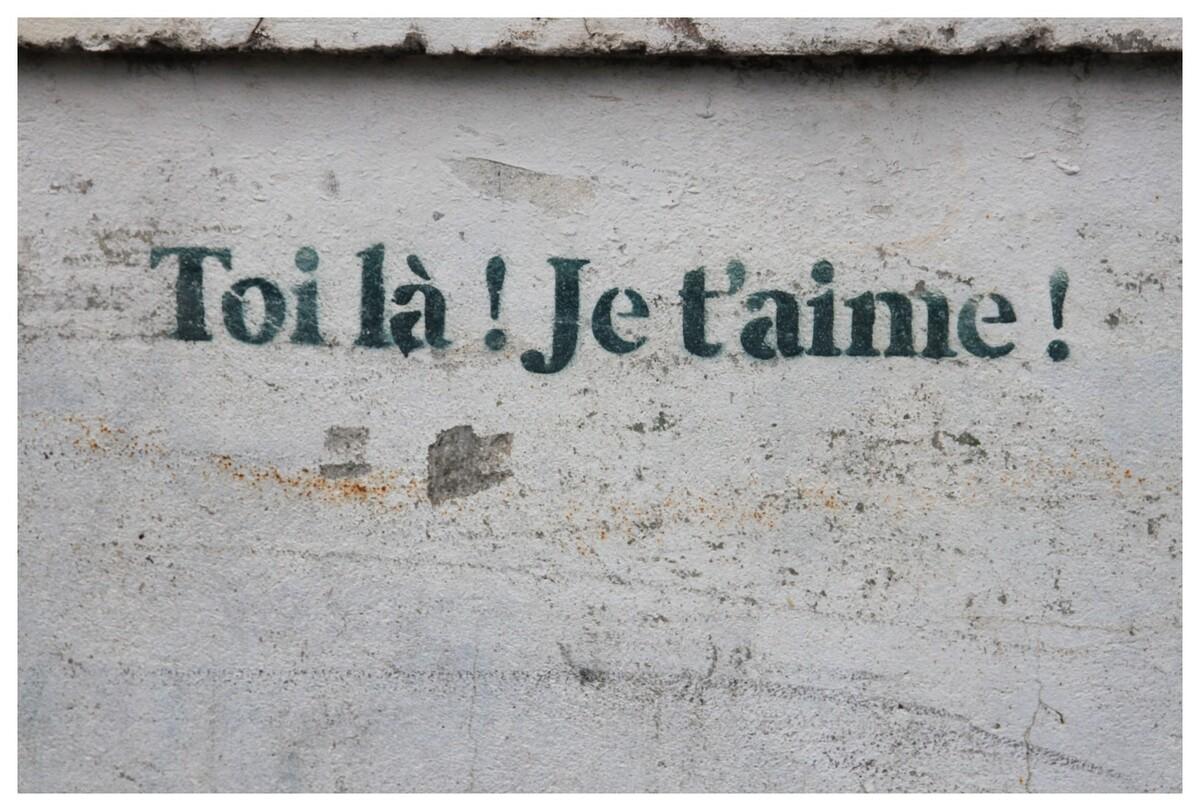 île St-Martin - expression couramment écrite sur les murs