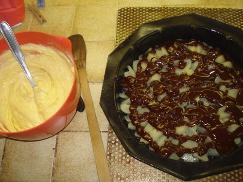 Un Gâteau renversé ChocoPoires