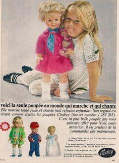 Les poupées Clodrey années 60