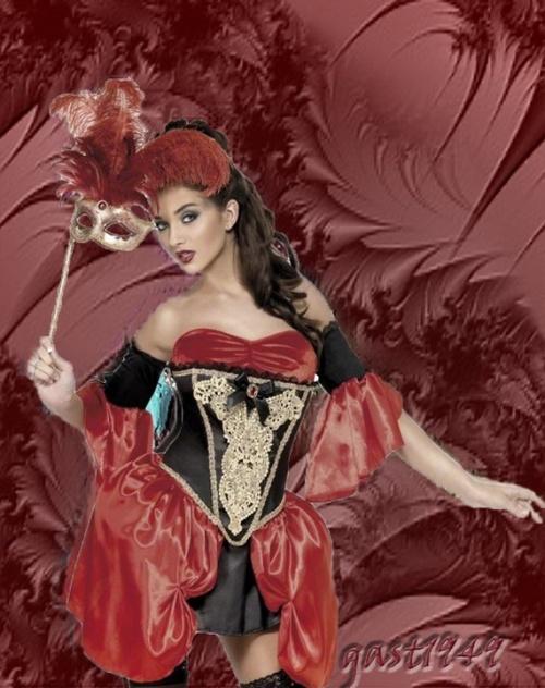 femme et corset auteur pivoines