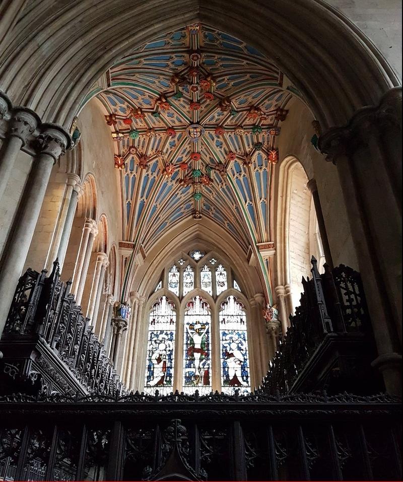 WINCHESTER, la Cathédrale : Le plafond de la Langton's Chapel