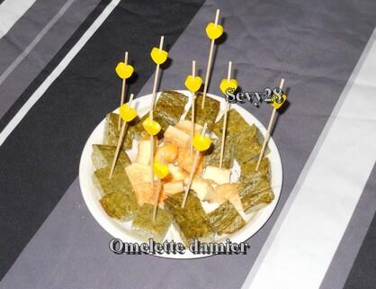 Omelette damier au four