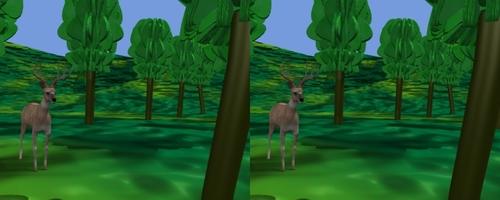 Un chevreuil sort de la forêt