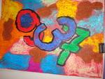 chiffres à la manière de Jasper Johns