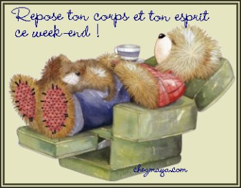 UN BON WEEK END A TOUS.