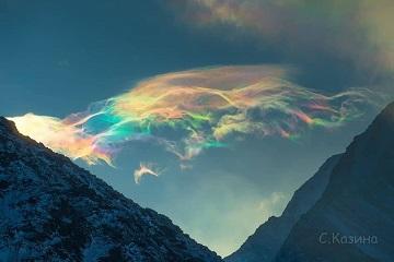 Des nuages irisés ...