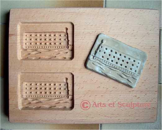 Moule à biscuit Fort Boyard petit format - Arts et Sculpture: sculpteur sur bois
