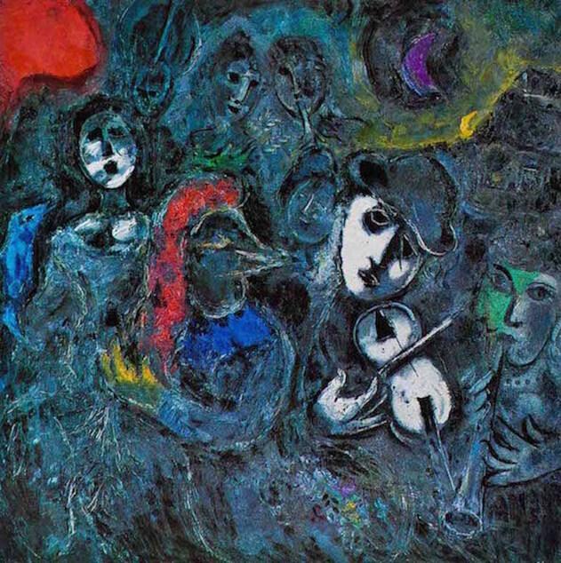 """Les """"Saltimbanques"""" de Chagall pour Aznavour"""