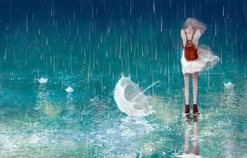 Image de rain, anime, and umbrella