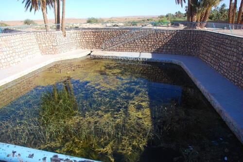Le bassin, pas très clean...