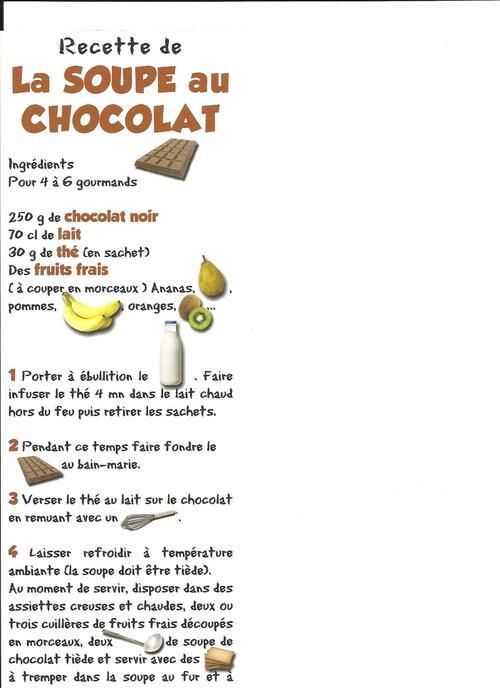 La soupe au chocolat