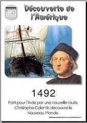 1492 Découverte de l'Amérique