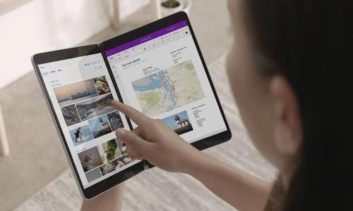 Microsoft Surface Duo :présentation de l'interface du futur smartphone
