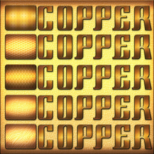 5 Feee Copper Photoshop Styles