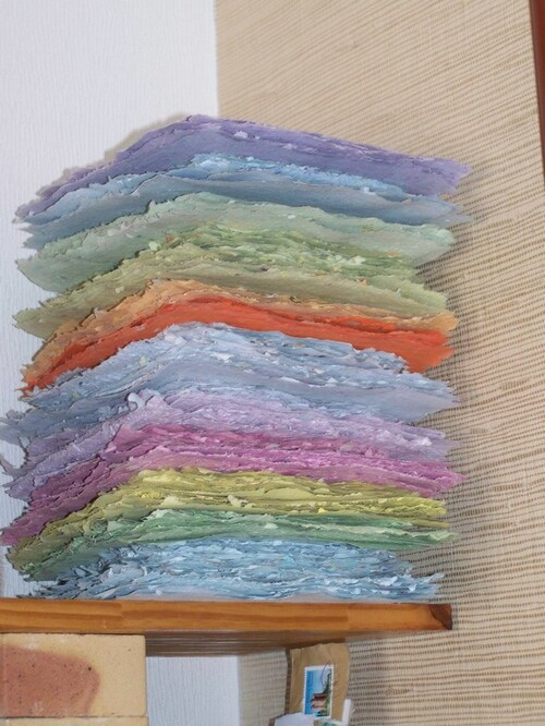 Papier recyclé de l'été 2013