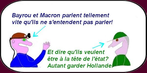 Le duo Bayrou-Macron ou le duo des girouettes de la République!