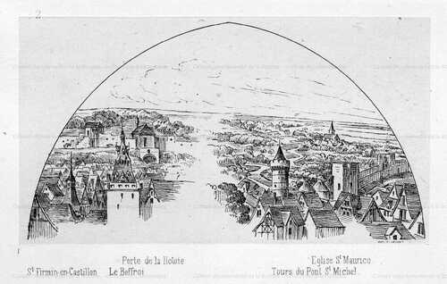 Amiens au commencement du XVIe Siècle (recherche.archives.somme.fr)