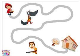 Le petit chaperon rouge : graphisme du chemin
