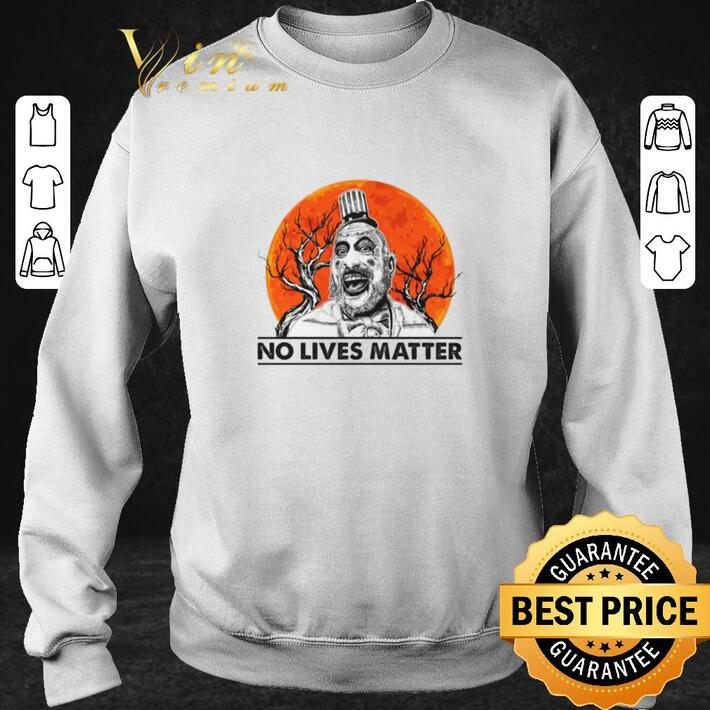 Premium Captain Spaulding no lives matter sunset shirt