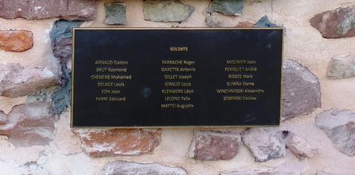 * Inauguration de la plaque aux soldats du Génie et de la Légion de la DFL à GRUSSENHEIM