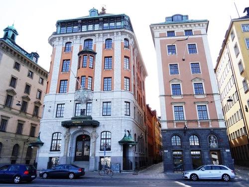Stockholm: Götgatan et l'église Zainte Catherine
