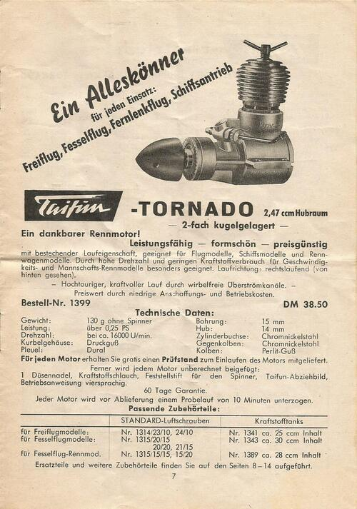 "Moteur Taifün "" Tornado """