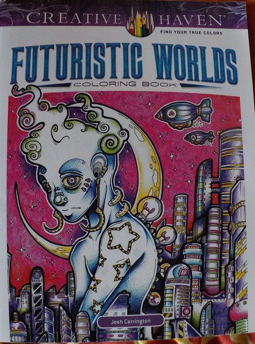 DOMANDALAS  coloring book futuristic worlds Josh Carrington