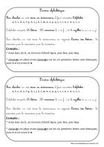 L'ordre alphabétique (leçon CE2)