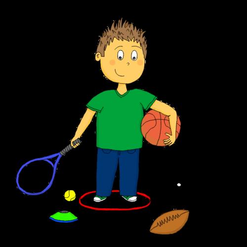 Dessin - Responsable du matériel de sport