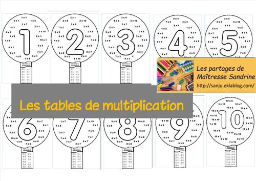 Les tables de multiplication - jeu