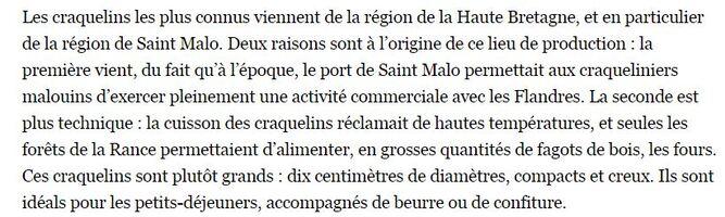 UN REGAL : LES CRAQUELINS de ST MALO