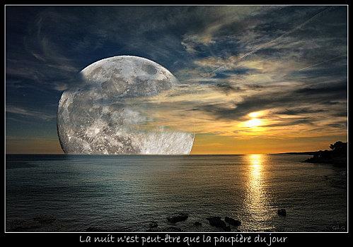 "Poésie  "" Lune et soleil """