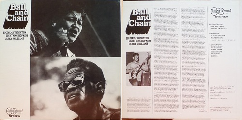 """ALBUM VARIOUS """"BALL AND CHAIN"""" - ARHOOLIE RECORDS 1039 - 1974"""