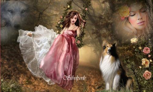 fée et chien