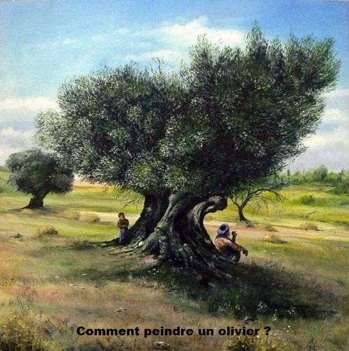 Dessin et peinture - vidéo 3013 : Comment peindre un olivier ? - aquarelle.