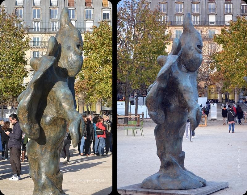 """Jardin des Tuileries : FIAC 2017 : """"Sans titre"""" de Erik Dietman (2002)"""