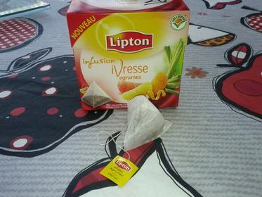 L'infusion iVresse agrumes de Lipton