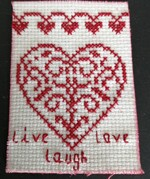 Broderie live, laugh, love,  et Hello spring