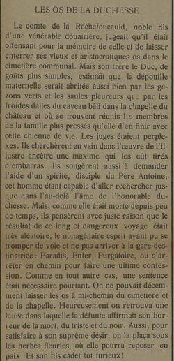 Les os de la duchesse (Tatène  14 juin 1913)