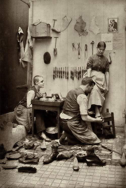 The shoemaker (late 19th century)