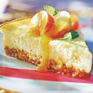 """Résultat de recherche d'images pour """"Cheesecake pêche-abricot"""""""