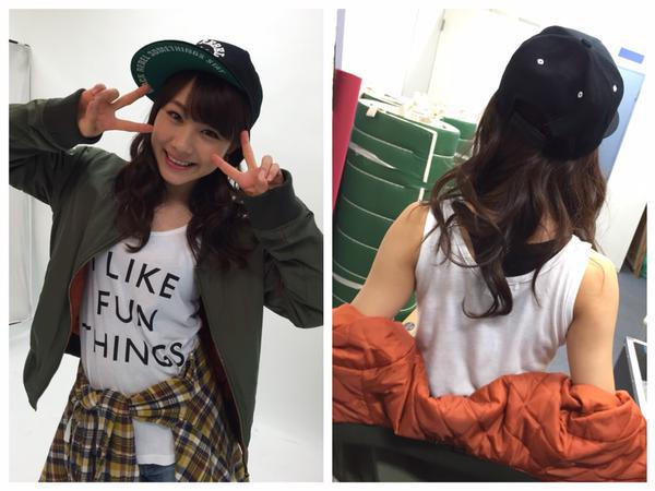 Ayumi sur le compte twitter des Morning Musume'15