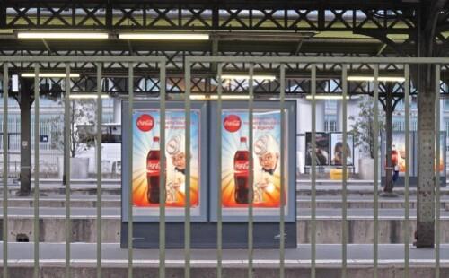 affiche Coca-cola gare de Lyon