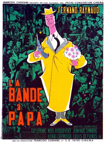 LA BANDE A PAPA - BOX OFFICE LOUIS DE FUNES 1956