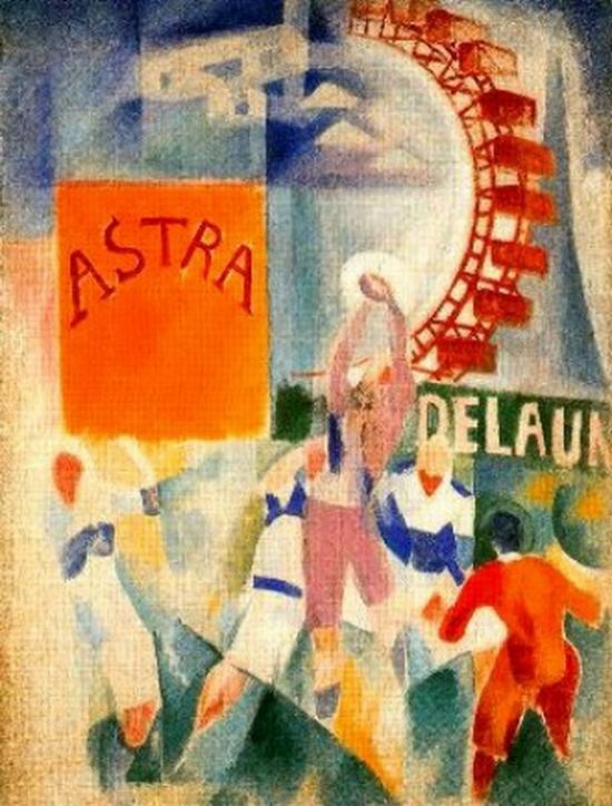 Robert Delaunay, L'équipe de Cardiff , 1913