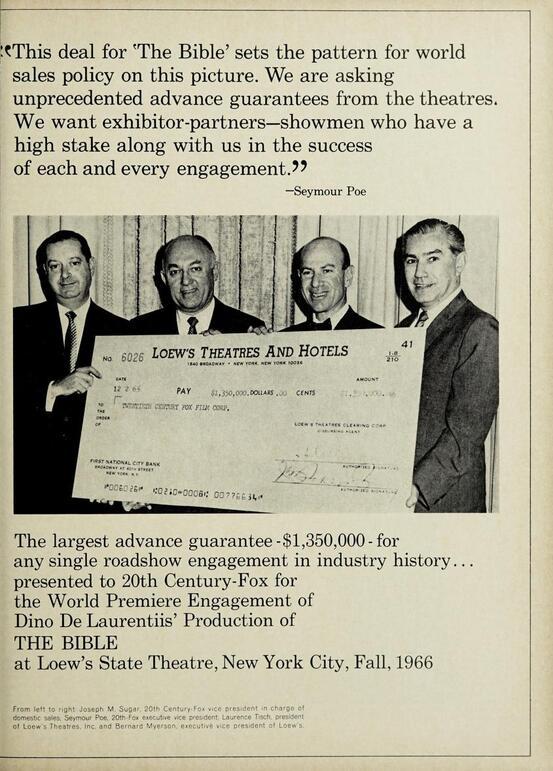 BOX OFFICE USA DU 26 SEPTEMBRE 1966 AU 2 OCTOBRE 1966